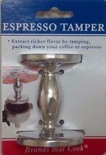 HIC HAROLD IMPORT COMPANY Two Sided Espresso Tamper 50mm and 55mm base Silver