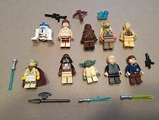 LEGO lot of 10 Star Wars Good Guy Minifigs Yoda Luke Leia Han R2-D2 Chewie S324