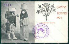 Sassari Olbia Tempio Pausania Costumi Militari cartolina QT2399