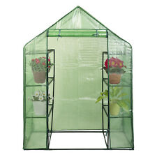 Portable Mini 8 Shelves Walk In Greenhouse Outdoor 4 Tier Green House