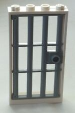 *NEW* 1 Set LEGO 1x4x6 WHITE Frame & Gray Barred Door