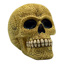 Bone Colored Day of the Dead Sugar Skull Coin Bank Mexican Dia De Los Muertos
