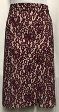 Bnwt violet dentelle next jupe crayon. petite frontal jambe split taille 10 (£ 42 sur étiquette)
