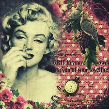 Grit and Smoke - Handmade Marilyn Monroe 8x8 Fabric Block Perfect 4 Crafts!