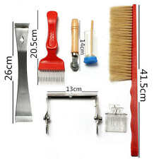 7pcs Bee Brush Uncapping Fork Queen Catcher Hive Beekeeping Equipment Pack Tool