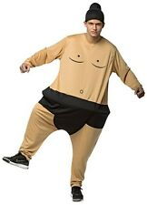 Adult SUMO WRESTLER Costume Hoop Outfit Halloween Unisex Womens Mens Wrestling