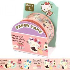 Hello Kitty Paper Masking Seal Roll Tape Sticker Stationary Sanrio Japan Z4535