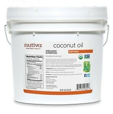 Nutiva Refined Coconut Oil 1 Gallon organic  RFC651 best by 2018-09-07