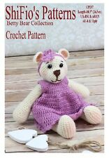 CROCHET PATTERN for BETTY BEAR CROCHET TOY, DRESS, HEADBAND PATTERN  #257