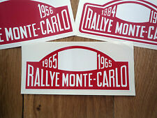 "RALLYE MONTE-CARLO Rally Plate Style STICKERS 16"" Alpine A110 Mini Classic Car"