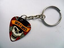 GUNS N ROSES   Double Sided Guitar Pick // Plectrum Silver Keyring