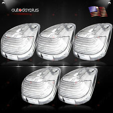 5 Roof Running Light Cab Marker Clear Cover Top Lamp Lens For Ford F-250 350 450