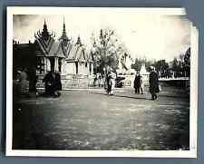 France, Paris, Exposition Coloniale 1931. Pavillon de Cambodge  Vintage silver p