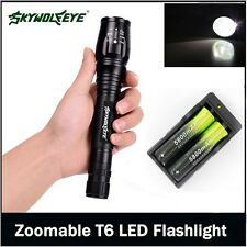 Tactical 12000LM 5-Mode CREE XMLT6 LED Flashlight Lamp Torch+ 18650BTY + Charger