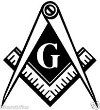 MASON MASONRY MASONIC BUMPER STICKER TOOL BOX DIE CUT