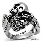 Men's Stainless Steel 316 Day of the Dead Skulls Fashion Ring Band Size 8-13