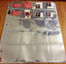 5x Stamps Holders Inserts  Sleeves Collection Pages 20-Pockets for 3-Ring Binder