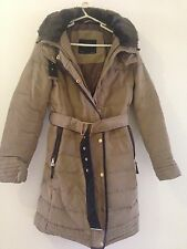 ZARA CAMEL DOWN COAT ANORAK PUFFER,SIZE M - BLOGGERS Favourite/sought After