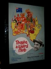 ORIGINAL THEY'RE A WEIRD MOB British 1 Sheet Michael Powell Walter Chiari