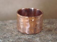 Navajo Indian Jewelry Copper Hammered Ring by Douglas Etsitty, Size 5.5