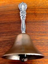 H H Curtis American Sterling Silver Handled Hand Bell No Monogram
