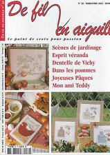 De fil en aiguille N°30 point croix Abc Bébé cuisine Enginger St Aubin Lacroix