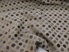"Beige & Purple Shade ""Chenille Spot"" Soft Upholstery Fabric. By Samuel Simpson"