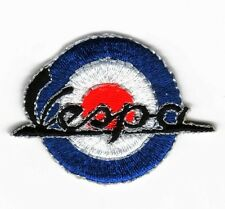 Iron On/ Sew On Embroidered Patch Badge MOD Vespa Scooter Target Roundal