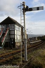 Foxfield Signal Box & Station Cumbria 1996 Rail Photo