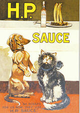 ROBERT  OPIE  ADVERTISING  POSTCARD  -  H.P.  SAUCE
