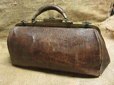 Vintage Leather Doctor Bag   Antique Bags Doctor's Nurse Medical Medicine 9250