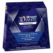 Crest3D Whitestrips Professional Effects Teeth Whitening 20 Pouches 40 Strip Box
