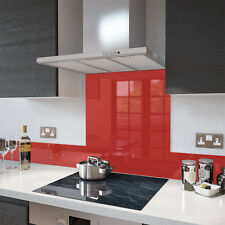 Gloss Red - Glass Splashback UPSTAND In 140mm X 1000mm SALES NOW ON END OF LINE