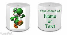 YOSHI PERSONALISED WHITE CERAMIC MONEY BOX / PIGGY BANK FAST POSTAGE