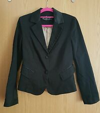 WOMENS ZARA TRAFALUC NIGHT COLLECTION 2 BUTTONS BLACK BLAZER SIZE EU 36, UK 6-8!