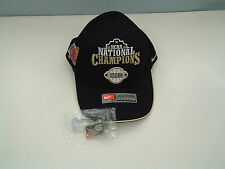 2004 NCAA national champions Uconn huskies hat with NC champion hat lapel pin