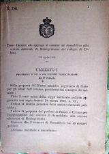1895/216 Regio Decreto che aggrega SASSOFELTRIO a sez.el. MONTEGRIMANO di Urbino