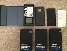 EMPTY RETAIL PACKAGING BOX SAMSUNG GALAXY** S7 EDGE BLACK 32GB** ACCESSORIES UK