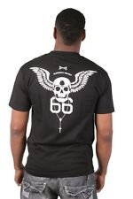 Bloodbath Project Skull 2XL XXL 66 Rosary Black Fleet Graphic Pocket T-Shirt