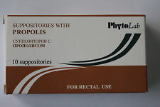Suppositories with propolis. Rectal use. 10 suppositories.