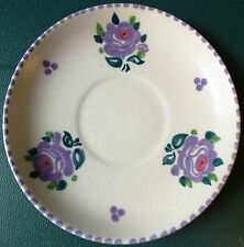 POOLE c1930's WINIFRED ROSE DECORATED SAUCER. 142mm diameter.