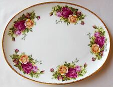 Royal Albert Bone China England Old Country Roses 1962 Small Oval Tray AS IS