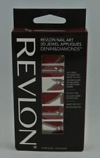 Revlon 3D Nail Art Stickers 18 Jewel Appliques Denim & Diamonds• Zip It #04
