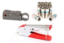 Compression Tool BNC RG6 RG59 Coaxial Connectors Crimper Cable Coax Coaxial Kit