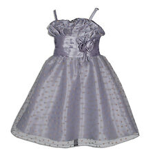 New Grey Pageant Party Flower Girl Dress 8-9 Years