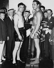 1935 Boxers MAX BAER vs JAMES BRADDOCK 8x10 Photo Heavyweight Weigh-In Print