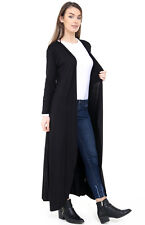 Ladies Plus Size Women Viscose Front Open Floaty Cardigan Flare Coat Maxi Top
