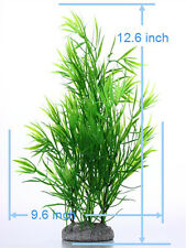 Green Soft Hard Artificial Plastic Water Plant for Fish Tank Aquarium Decoration