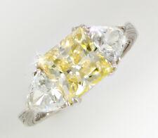 2.5 ct Canary Princess Filligree  Ring Top CZ  Moissanite Simulant SS Size 12