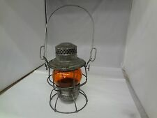 A VINTAGE C.M.ST.P. & P.R.R.  RAILROAD LANTERN ORANGE GLOBE, CHICAGO....  975-V